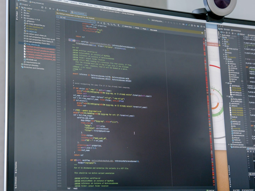 Computer screen with coding on it